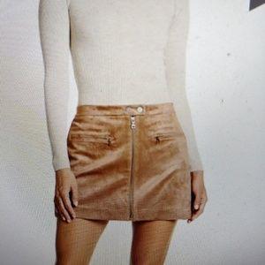 BCBG Suede A line skirt